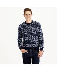 J.Crew Italian Wool-alpaca Snowflake Sweater - Lyst