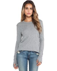 Enza Costa Cashmere Jersey Loose Crew - Lyst