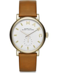 Marc By Marc Jacobs Baker Stainless Steel & Leather Strap Watch/36Mm - Lyst