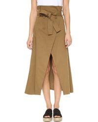 Shakuhachi - Joux Joux Trench Wrap Skirt - Lyst