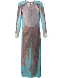 Jean Paul Gaultier Printed Long Dress - Lyst