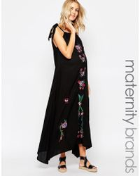 370c6334f7377 Fillyboo - Maxi Dress With Embroidery - Lyst