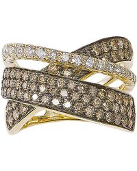 Le Vian - Diamond And 14k Gold Crossed Band - Lyst