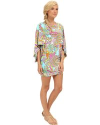 Trina Turk Coral Reef Cover Up Tunic - Lyst
