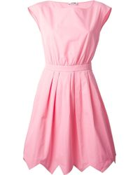 Moschino Cheap & Chic Belted A-Line Dress - Lyst