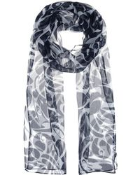 Miu Miu Printed Silk Scarf - Lyst
