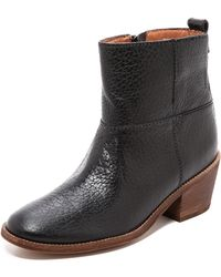 Madewell Fitted Block Heel Boots  True Black - Lyst