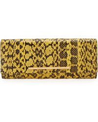 B Brian Atwood Ingrid Watersnake Clutch Bag - Lyst