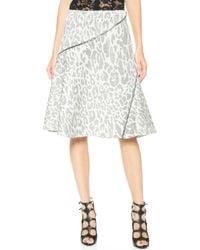 Jay Ahr Leopard Skirt - Grey - Lyst