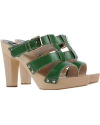D&G Green Platform Sandals - Lyst