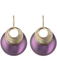 Alexis Bittar Link Earring With Mother Of Pearl Inlay gold - Lyst