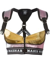 Nasir Mazhar - Cropped Metallic Top - Lyst
