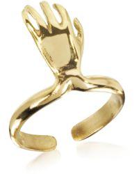 Bernard Delettrez - Bronze Midi Ring W/left Hand - Lyst