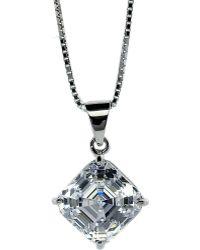 Carat* - Asscher 1.25ct Solitaire Pendant Necklace - Lyst