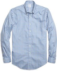 Brooks Brothers Non-iron Slim Fit Twin Check Sport Shirt - Lyst