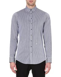 DSquared2 Minigingham Shirt Navy - Lyst