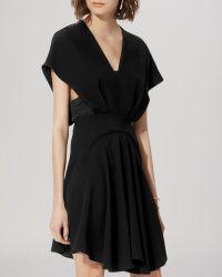 Maje Dress - Reina Paneled black - Lyst