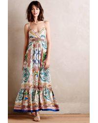 Collette Dinnigan - Acionna Silk Maxi Dress - Lyst