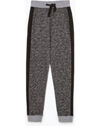 Zara Combined Jogging Pants - Lyst