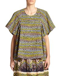 A Detacher Fran Fields Printed Blouse - Lyst