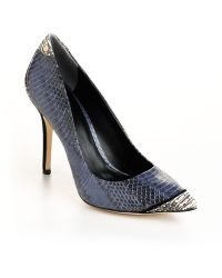 Rachel Roy Aron Snakeeffect Leather Pumps - Lyst
