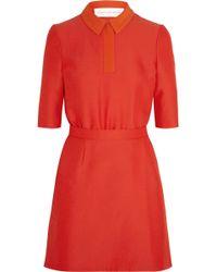 Victoria, Victoria Beckham Contrast-collar Cady Dresss - Lyst