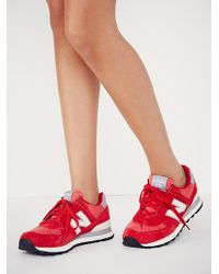 New Balance Red Pennant Trainer - Lyst