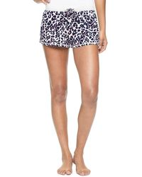 Juicy Couture   blue Inky Leopard Knit Shorts   Lyst