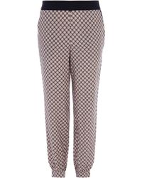 Oasis Geo Patched Soft Trouser - Lyst