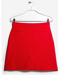 Mango Textured Skirt - Lyst