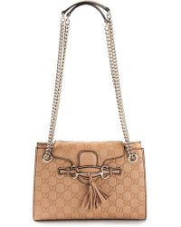 Gucci Emily Medium Calf-leather Shoulder Bag - Lyst
