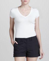 Zac Posen - Cuffed Cotton Shorts - Lyst