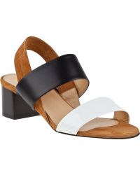 Aquatalia by Marvin K Claudia Sandal Multi Black Leather - Lyst