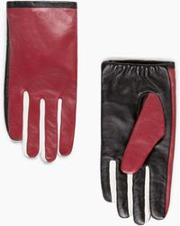 Mango - Tricolor Leather Gloves - Lyst