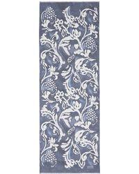 Armani Floral Print Silk Organza Scarf - Lyst