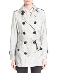 Burberry Brit - 'kerringdale' Belted Trench Coat - Lyst