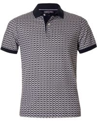 Tommy Hilfiger Bas Printed Short Sleeve Polo - Lyst