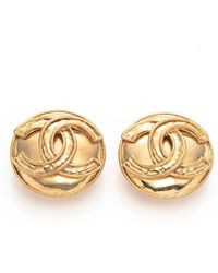 Chanel Pre-owned Clip-on Earrings - Lyst