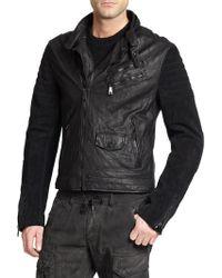 Ralph Lauren Black Label Racer Shirt Jacket - Lyst