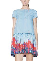 Cacharel Ruffle Print Dress - Lyst