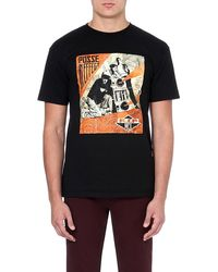Obey Rip Mca Print Tshirt Black - Lyst