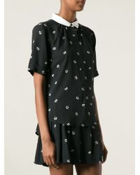 Band Of Outsiders Buttoned Floral Print Blouse - Lyst