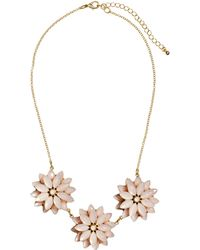 H&M Necklace With Floral Pendants - Lyst
