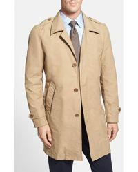 Cole Haan Men'S Cotton Blend Twill Car Coat - Lyst