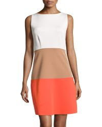 BCBGMAXAZRIA Colorblock Scuba Jersey Dress - Lyst