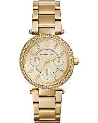 Michael Kors Ladies Parker Mini Glitz Watch - Lyst