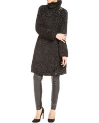 Tracy Reese Printed Funnel Neck Coat - Lyst