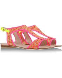 Markus Lupfer Sandals pink - Lyst