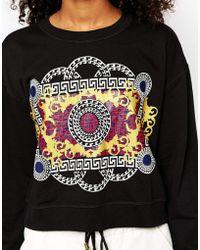 Monki Printed Sweatshirt - Lyst