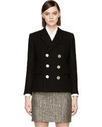 Saint Laurent Wool Blazer Jacket - Lyst